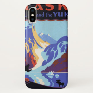 Vintage Travel Poster, Atlin and the Yukon, Alaska iPhone X Case