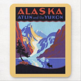 Vintage Travel Poster, Atlin and the Yukon, Alaska Mouse Pad