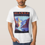 Vintage Travel Poster, Atlin and the Yukon, Alaska Tee Shirt