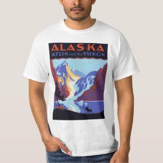 Vintage Travel Poster, Atlin and the Yukon, Alaska Tee Shirt