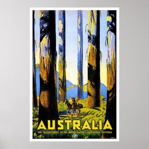 Vintage Travel Poster Au