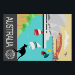 "Vintage travel poster Australia<br><div class=""desc"">Super cool vintage travel poster</div>"