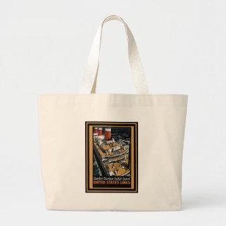 Vintage Travel Poster Canvas Bag