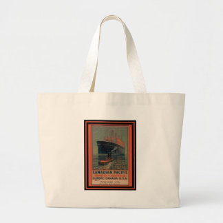 Vintage Travel Poster Canvas Bags