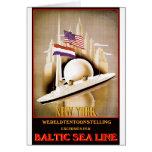 Vintage Travel Poster: Baltic Sea Line New York