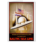 Vintage Travel Poster: Baltic Sea Line New York Card