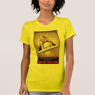 Vintage Travel Poster: Baltic Sea Line New York Tshirts