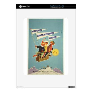 Vintage Travel Poster Bavarian Alps Austria German Decals For iPad