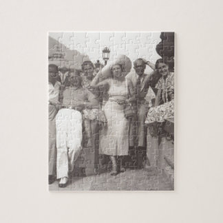Vintage travel poster black and white photo jigsaw puzzles