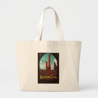 Vintage Travel Poster, Bologna, Italy Bags