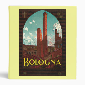 Vintage Travel Poster, Bologna, Italy 3 Ring Binders