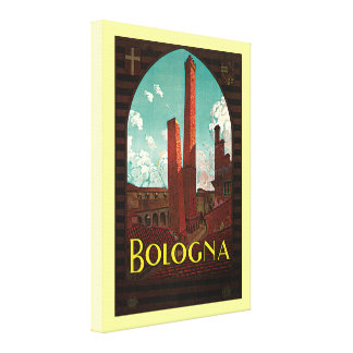 Vintage Travel Poster, Bologna, Italy Canvas Print
