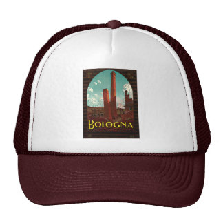 Vintage Travel Poster, Bologna, Italy Hat