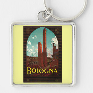 Vintage Travel Poster, Bologna, Italy Key Chains