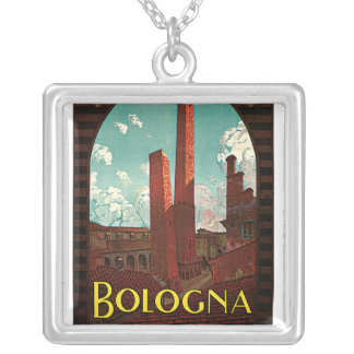 Vintage Travel Poster, Bologna, Italy Pendants