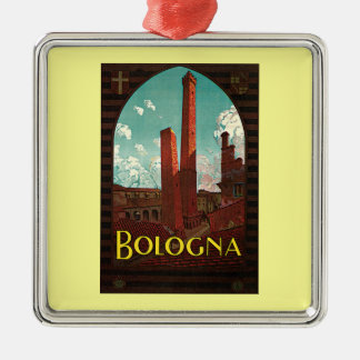 Vintage Travel Poster, Bologna, Italy Christmas Tree Ornaments