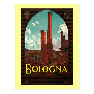 Vintage Travel Poster, Bologna, Italy Post Card