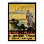 Vintage Travel Poster: Brazil South Atlantic Card