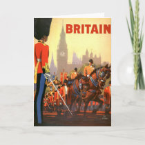 Vintage Travel Poster, British Royal Guard Card