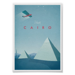 Vintage Travel Poster Cairo at Zazzle