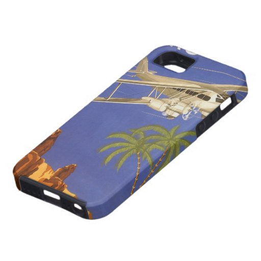 Vintage Travel Poster Cairo Egypt Africa Airplane iPhone 5 Cover