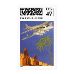 Vintage Travel Poster Cairo Egypt Africa Airplane Postage Stamp