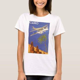 Vintage Travel Poster Cairo Egypt Africa Airplane T-Shirt