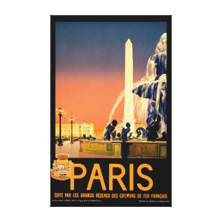 Vintage Travel Poster Canvas Print