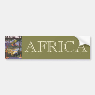 Vintage Travel Poster, Cape Town, South Africa Car Bumper Sticker
