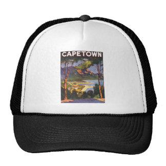 Vintage Travel Poster, Cape Town, South Africa Trucker Hat