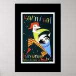 Vintage Travel Poster Carnival Cuba Havana