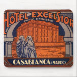 Vintage Travel Poster, Casablanca, Morocco, Africa Mouse Pad