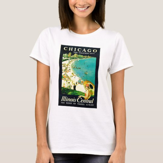 Vintage Travel Poster, Chicago, Illinois T-Shirt