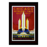 Vintage Travel Poster Chicago Worlds Fair