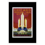 Vintage Travel Poster Chicago World's Fair