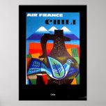 Vintage Travel  Poster Chile Print