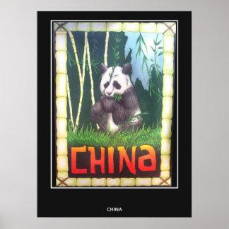 Vintage Travel Poster China Panda