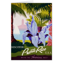 Vintage Travel Poster, Discover Puerto Rico!