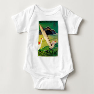 Vintage Travel Poster Donostia San Sebastian Baby Bodysuit