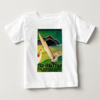Vintage Travel Poster Donostia San Sebastian Baby T-Shirt