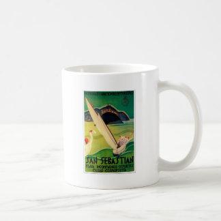 Vintage Travel Poster Donostia San Sebastian Coffee Mug