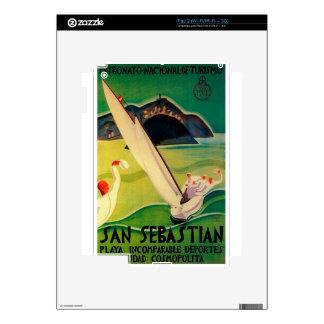 Vintage Travel Poster Donostia San Sebastian Decal For The iPad 2