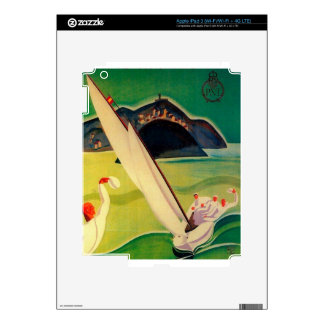 Vintage Travel Poster Donostia San Sebastian iPad 3 Decals