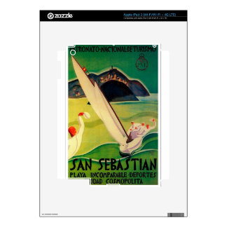 Vintage Travel Poster Donostia San Sebastian Skins For iPad 3