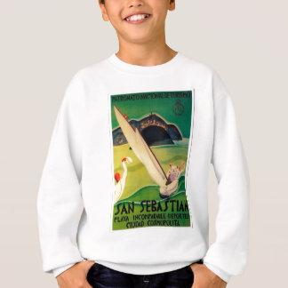 Vintage Travel Poster Donostia San Sebastian Sweatshirt
