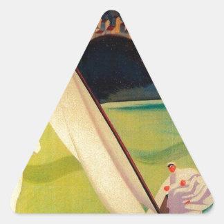 Vintage Travel Poster Donostia San Sebastian Triangle Sticker