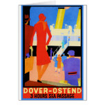 Vintage Travel Poster: Dover Ostend