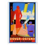 Vintage Travel Poster: Dover Ostend Card