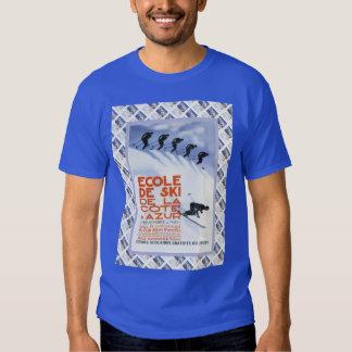 Vintage travel poster,Ecole de Ski T-shirt