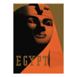 Vintage Travel Poster, Egypt, Africa with Sphinx Personalized Invitations